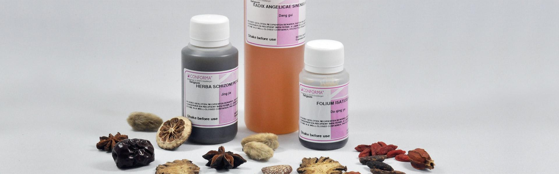 TCM, Hydrophile Konzentrate, Pflanzenextrakte, Chinesische Phytotherapie